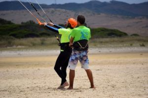 Clase kitesurf en Tarifa