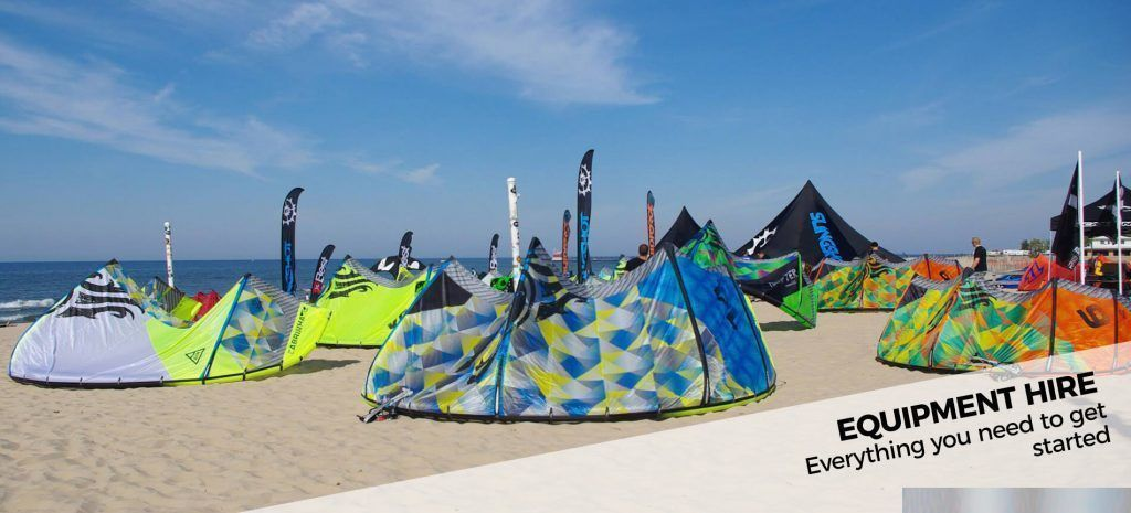 Rent equipment for kitesurf in Tarifa
