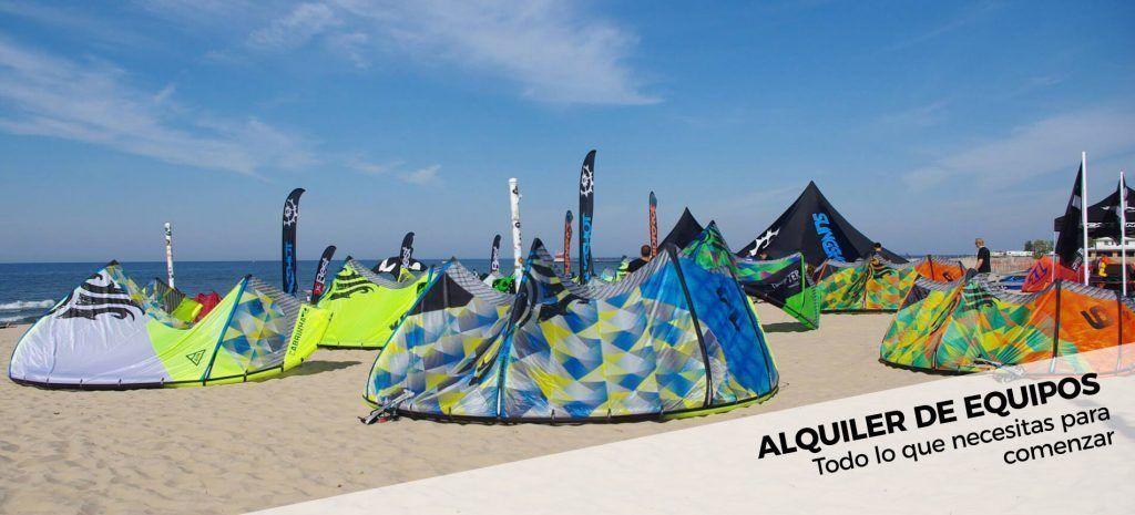 Alquiler de Equipos kitesurf, windsurf y surf